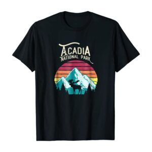 Acadia National Park Mountains Moose T Shirt
