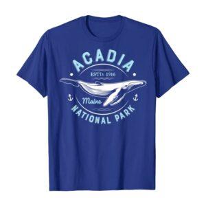 Acadia National Park Whale Shirt