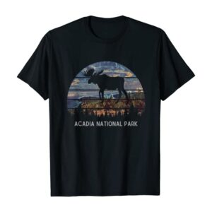 Acadia Vintage Moose National Park T-Shirt