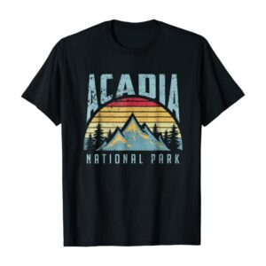 Retro Acadia National Park Maine Shirt