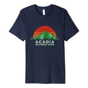 Retro Vintage Acadia National Park T-Shirt