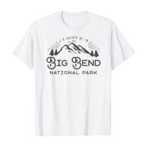 Big Bend National Park Retro Graphic Shirt