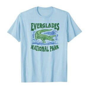Everglades National Park Florida Retro Alligator Shirt