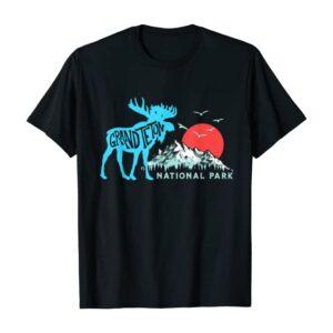 Grand Teton National Park Moose and Mountains Shirt