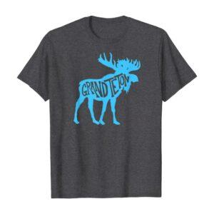 Grand Teton National Park Moose Typography Shirt