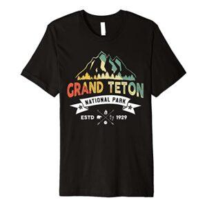 Grand Teton National Park Retro T Shirt