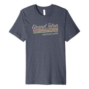 Grand Teton National Park Stripes T Shirt