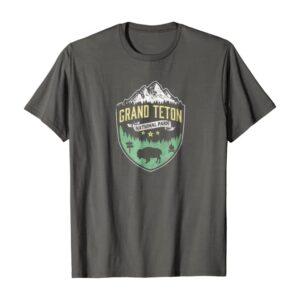 Grand Teton Vintage Mountains & Bison Badge Shirt