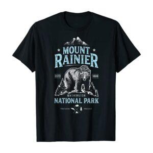 Mount Rainier National Park Bear T Shirt