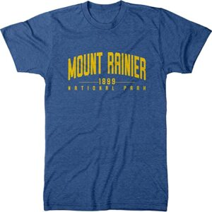 Mount Rainier National Park Script Shirt