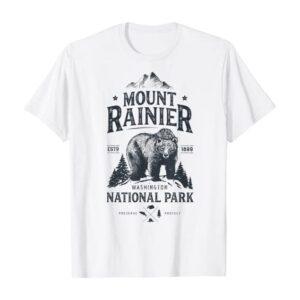Mount Rainier National Park Washington Bear Shirt