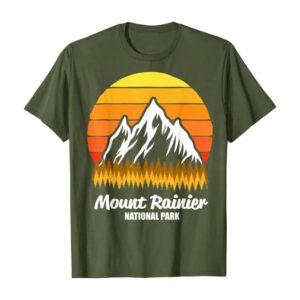Mt Rainier Mountains and Sun Shirt