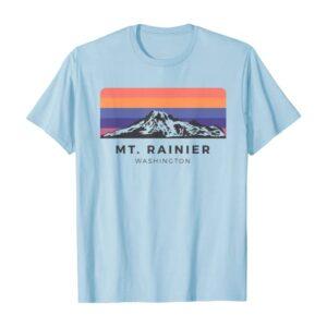 Mt Rainier Vintage Sunrise Shirt