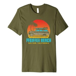 Pfeiffer Beach, Big Sur California Woody T Shirt