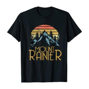 Retro Mount Rainier National Park T Shirt