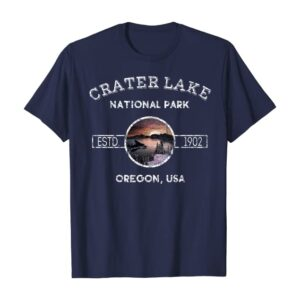 Vintage Crater Lake Oregon National Park Shirt