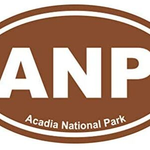Acadia National Park Brown Oval Sticker