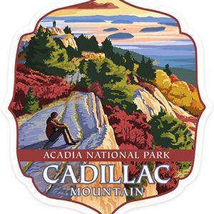 Acadia National Park Cadillac Mountain Sticker