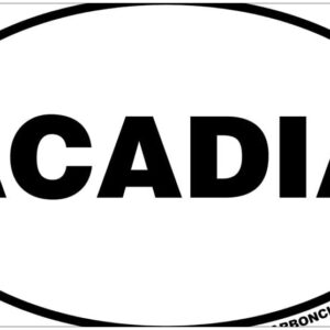 Acadia National Park Euro Oval Bumper Sticker