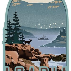 Acadia National Park Maine Contour Sticker