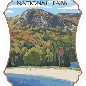 Acadia National Park Maine Sand Beach Die Cut Sticker