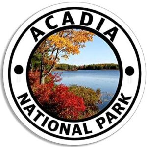 Acadia National Park Round Decal