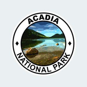 Acadia National Park Round Sticker