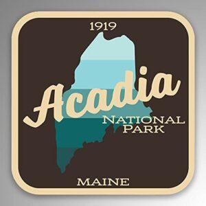 Acadia National Park Vinyl Bumper Sticker