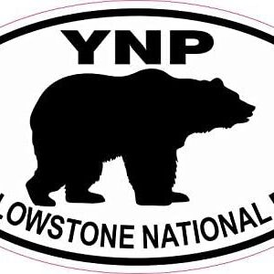 Bear Oval Yellowstone National Park Vinyl Sticker