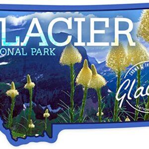Glacier Beargrass In Bloom Montana Sticker