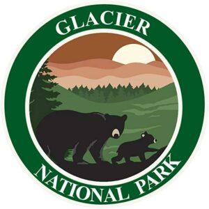 Glacier National Park Decal Die Cut Window Sticker
