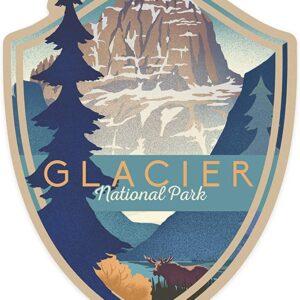 Glacier National Park Montana Mountain Scene Uv Proof Sticker