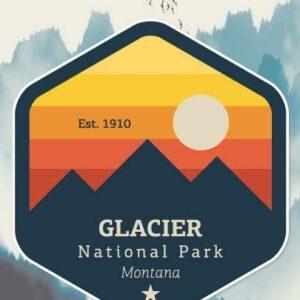 Glacier National Park Montana Sticker