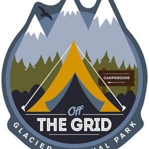 Glacier National Park Off The Grid Die Cut Sticker