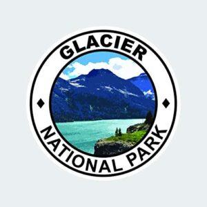 Glacier National Park Round Sticker Decal