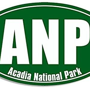 Green Oval Anp Acadia National Park Sticker