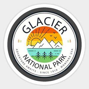 Retro Vintage Glacier National Park Decal