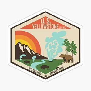 Retro Yellowstone Sticker