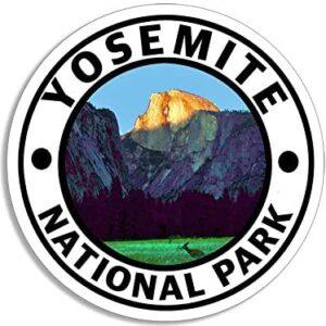 Round Yosemite Vinyl Sticker