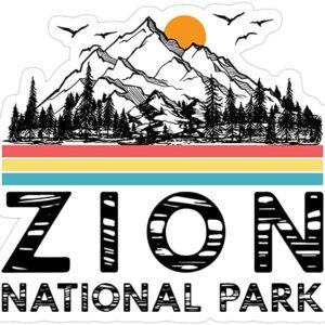 Vintage Zion National Park Retro Sticker