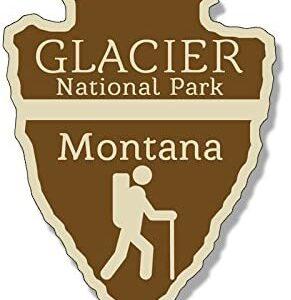 Vinyl Arrowhead Glacier National Park Sticker