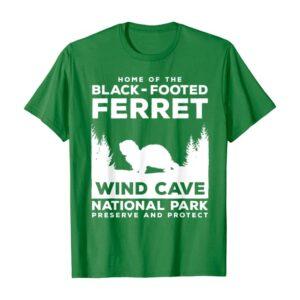 Wind Cave National Park Ferret T Shirt