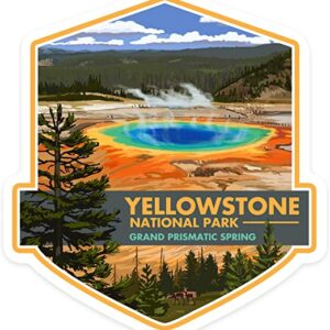 Yellowstone Grand Prismatic Spring Sticker