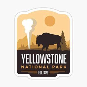 Yellowstone National Park Bison Window Sticker