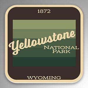 Yellowstone National Park Gradient Sticker
