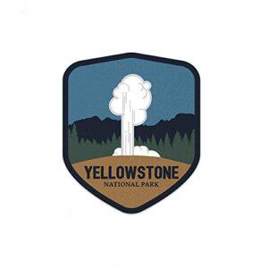 Yellowstone National Park Old Faithful Sticker