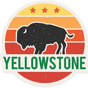Yellowstone National Park Sun And Bison Sticker