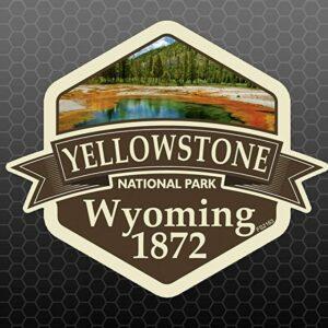 Yellowstone National Park Usa Vinyl Sticker