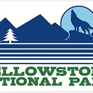 Yellowstone National Park Wolf Rectangle Bumper Sticker