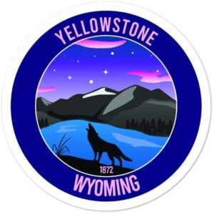 Yellowstone Wyoming National Park Wolf Vinyl Sticker